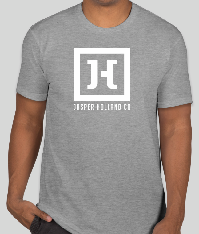 authorized site how to buy really comfortable Jasper Holland Co - Square Logo Design Mens T-shirt (Heather Gray)