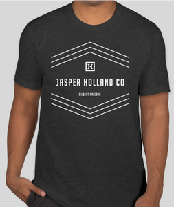 Jasper Holland Co - Stripes Design Mens T-shirt (Charcoal Gray)