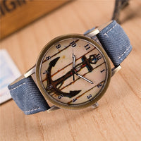 Seaman Seawoman Vintage Unique Canvas Anchor Watch
