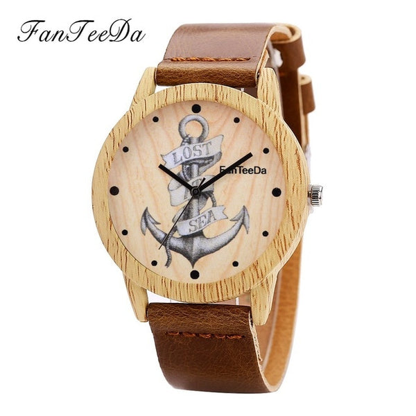 Seawoman Quartz Watch Fashion Women Leather Anchor