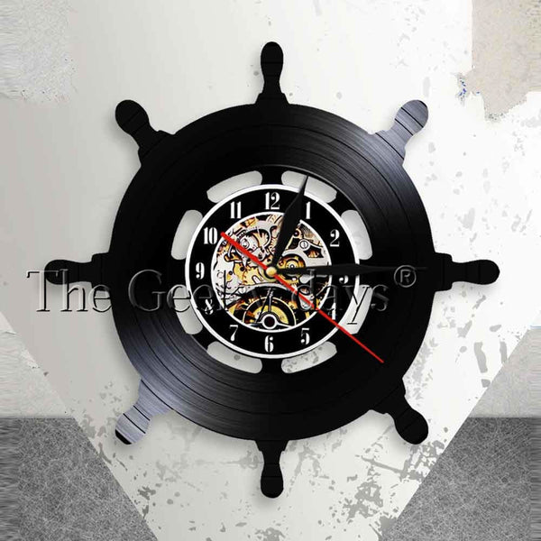 Captain Ship Wheel Wall Art Ship Steering Wall Deco Clock