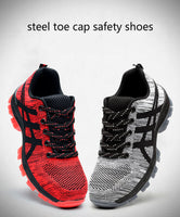 Big size steel toe work boots safety shoes breathable