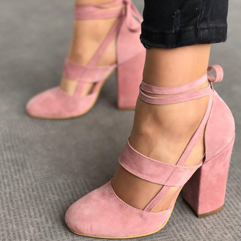 Women's high heel shoes ankle strap