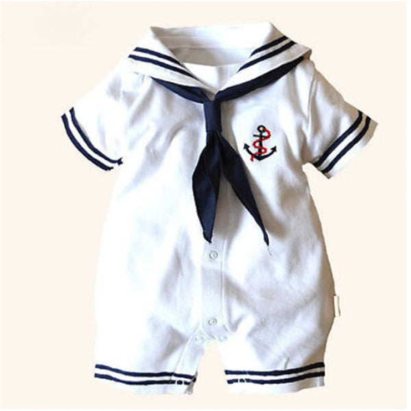 2019 baby sailor costume anchor romper navy costumes for infants
