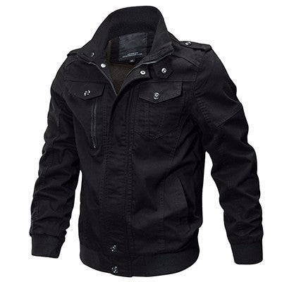Jacket Men Autumn Winter Military Coats Black Windbreaker