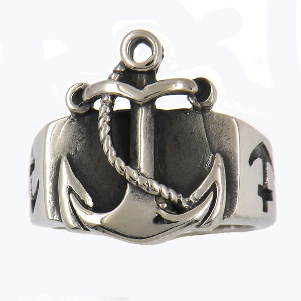MARINE ANCHOR NAVY SEAMAN SAILOR RING