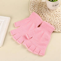 Fingerless Gloves Woman Winter Knitted Pair 1 Stretch Half Finger