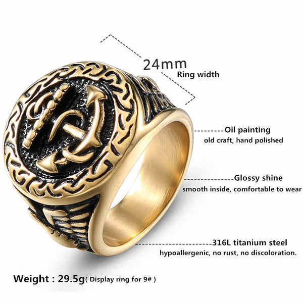 Sailor stainless steel ring for Seaman Seawoman