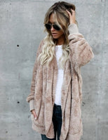 Autumn Winter New Women Plus Size Long Cardigan Coat