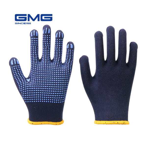 Professional Working Navy Blue Safety Cotton Gloves