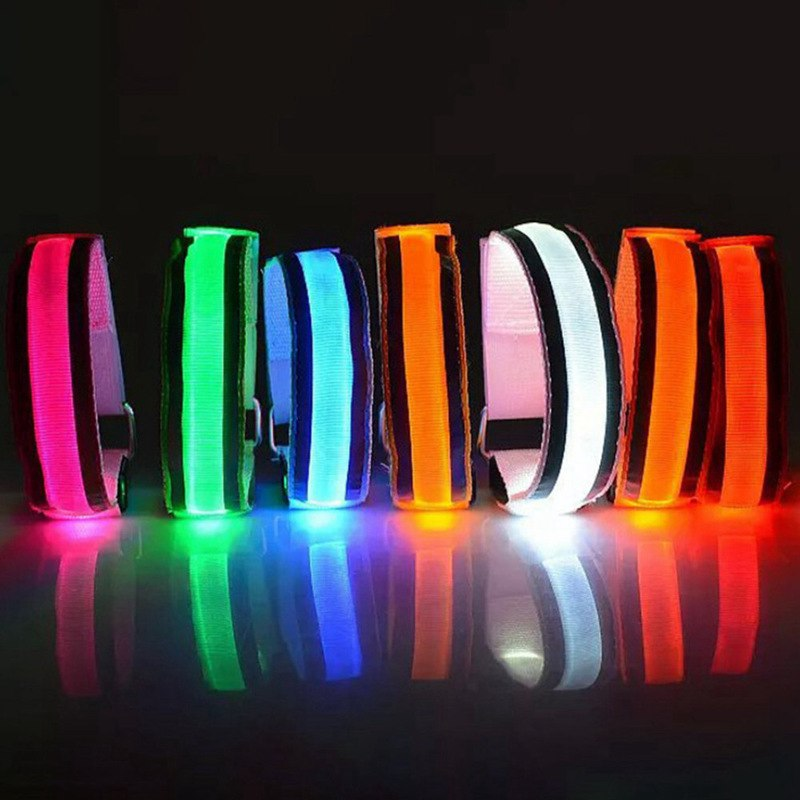 LED Reflective Light Arm Armband Strap Safety Belt For Night