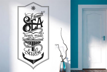 Smooth Sea Heaven Made A Sailor Wall Stickers Decals Art Quotes