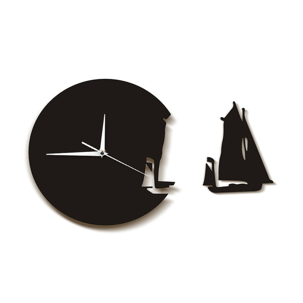 Yacht Leaving Clock Sailing Boat Modern Wall Clock Sea Style Beach
