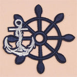 Seawoman/ Seaman/ Kids/ Baby Anchor rudder Iron on patches