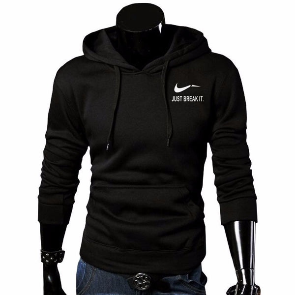 Sweatshirt Men Hoodies Fleece Hoodie just brake it mens tracksuit Moleton Masculino