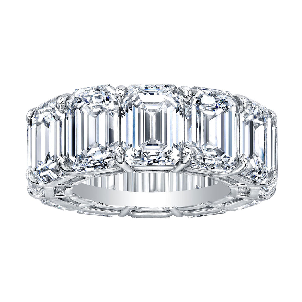 Emerald Cut Eternity Band, Wedding Bands,  - [Wachler]
