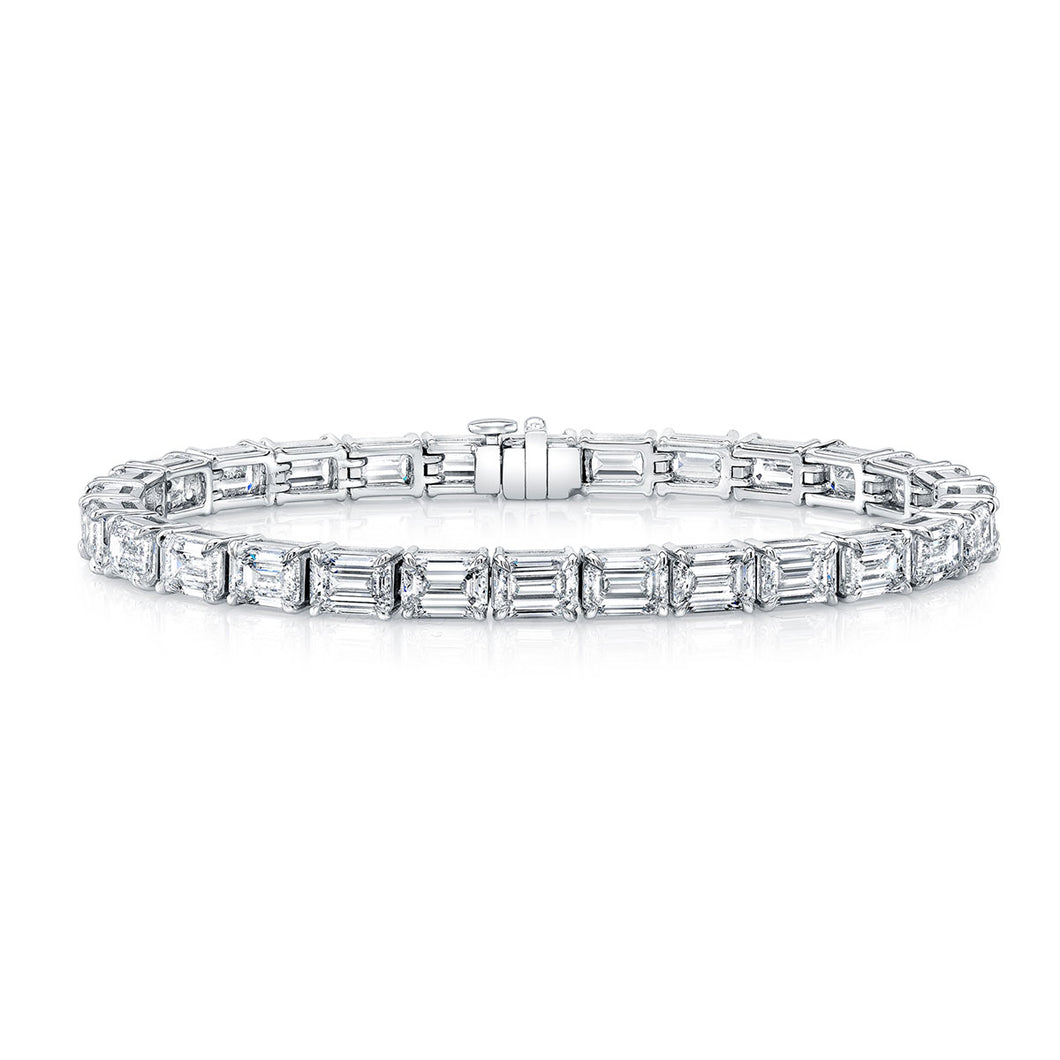 East West Emerald Diamond Bracelet, Bracelet,  - [Wachler]