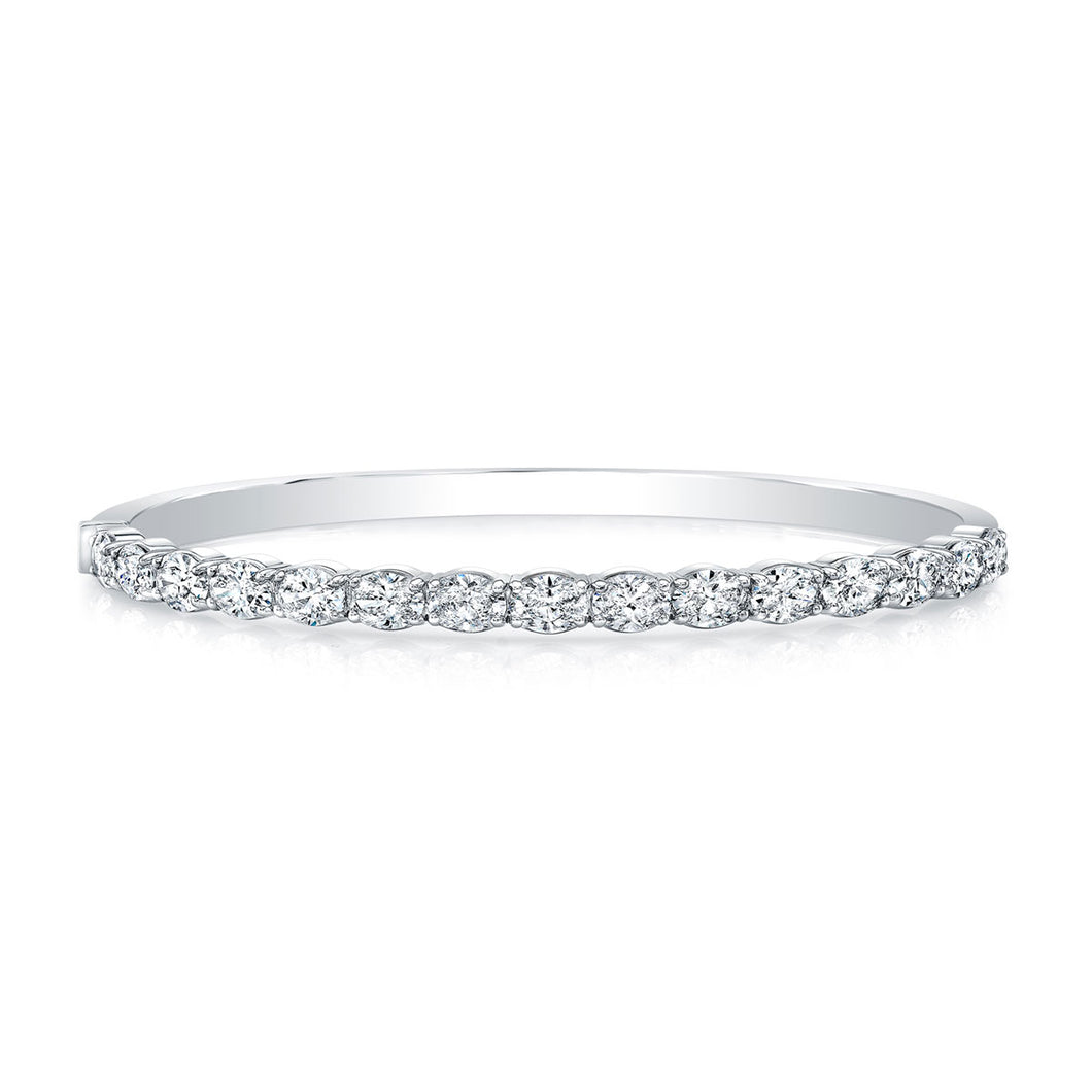 Bangle Hinge East West Oval Diamond Bracelet, Bracelet,  - [Wachler]