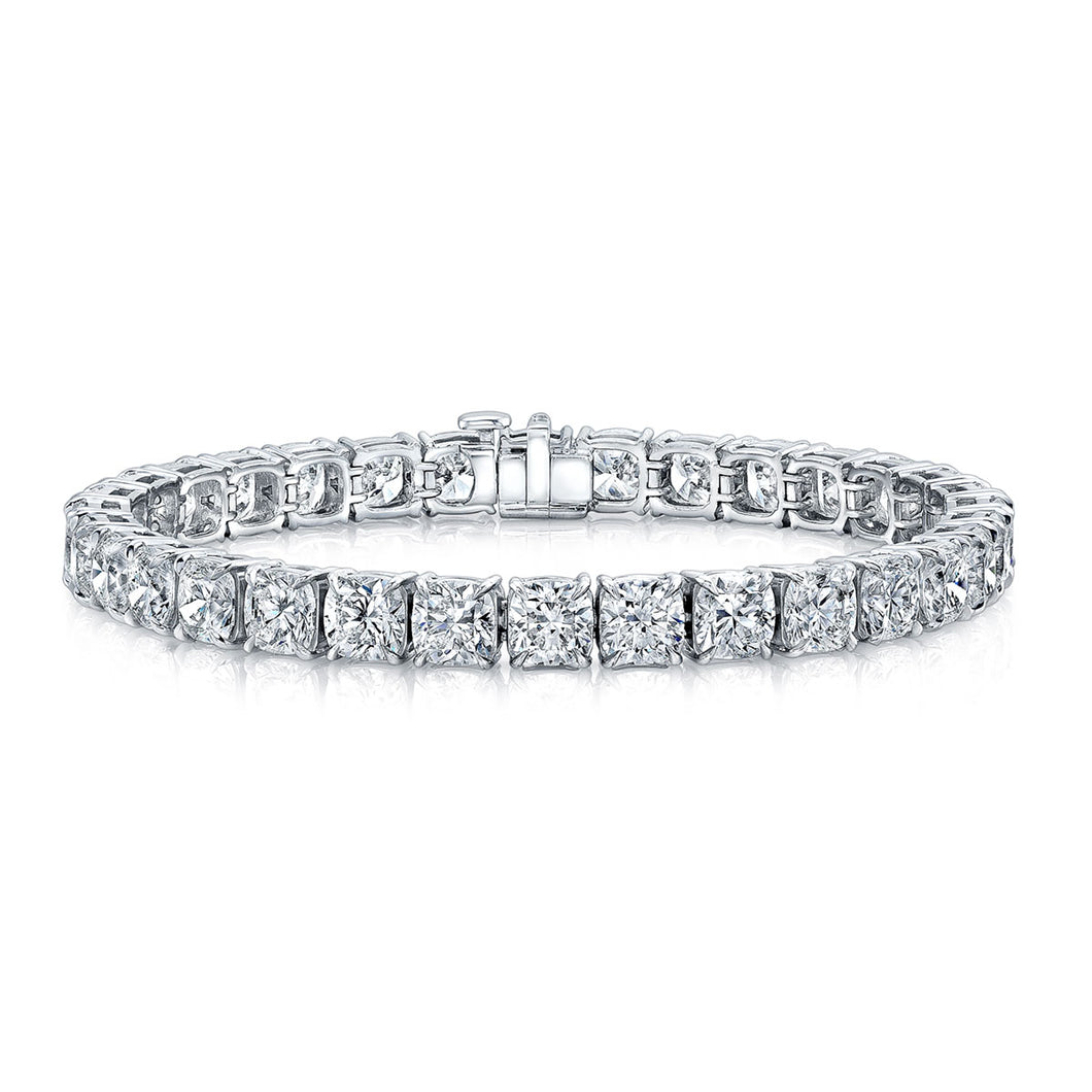 Cushion Cut Diamond Tennis Bracelet ¾ Carat Each, Bracelet,  - [Wachler]