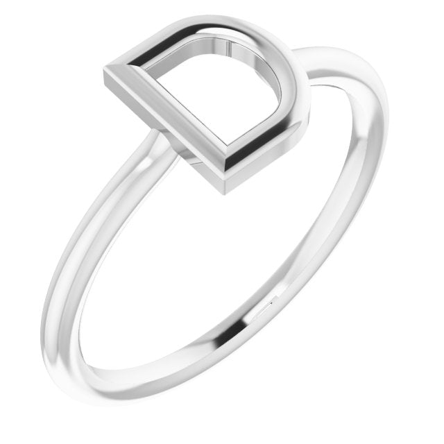 14K Gold Initial Ring