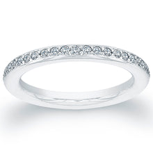 Load image into Gallery viewer, Diamond and Platinum Wedding Band, Wedding Bands,  - [Wachler]