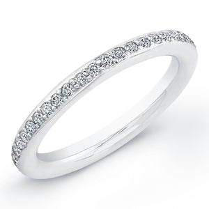 Diamond and Platinum Wedding Band, Wedding Bands,  - [Wachler]