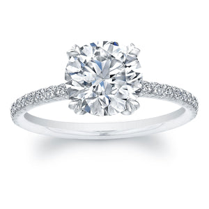 1.5 Carat Round Brilliant Cut Diamond Solitaire Engagement Ring, Engagement Ring,  - [Wachler]