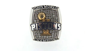 "Detroit Pistons 2004 ""N.B.A. World Champions"" 10K Diamond Staff Ring, Sports,  - [Wachler]"