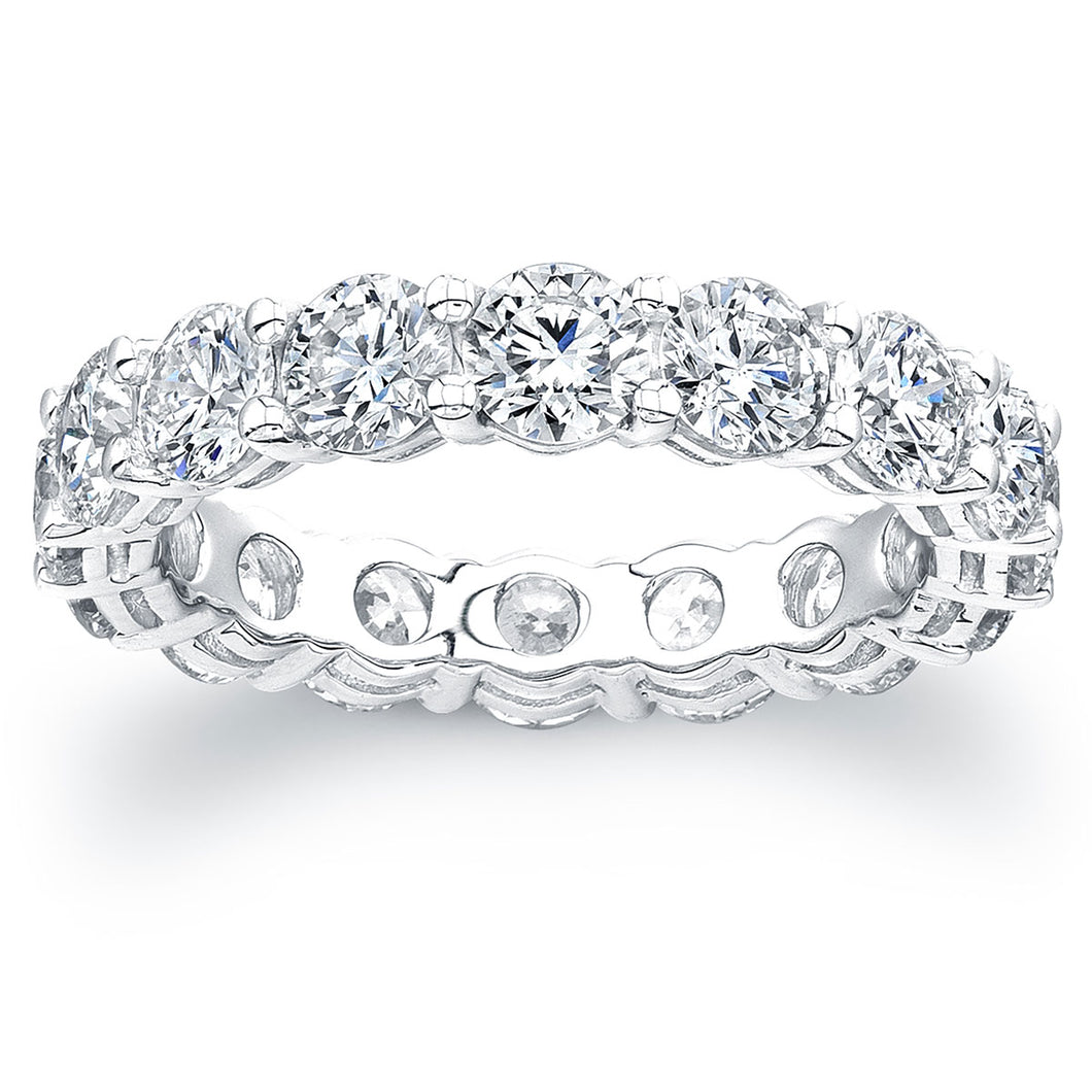 Round Brilliant Diamond Eternity Band, Wedding Bands,  - [Wachler]