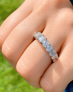 Dual Diamond Eternity Band