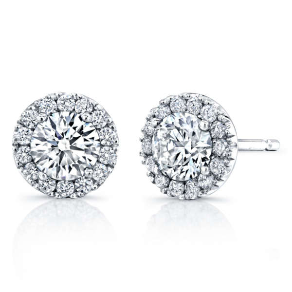 Round Brilliant Diamond Stud Earrings, Earrings,  - [Wachler]