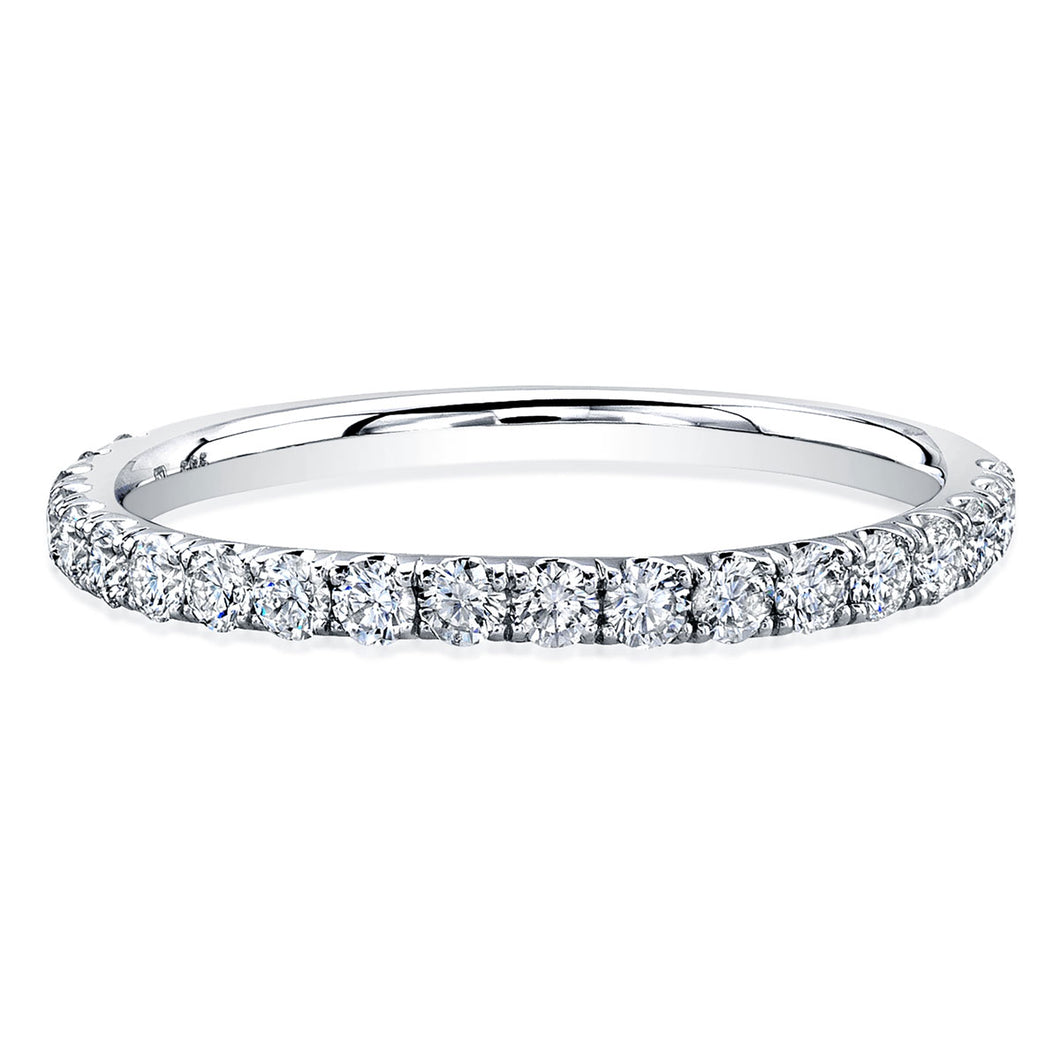Round Diamond White Gold Wedding Band, Wedding Bands,  - [Wachler]