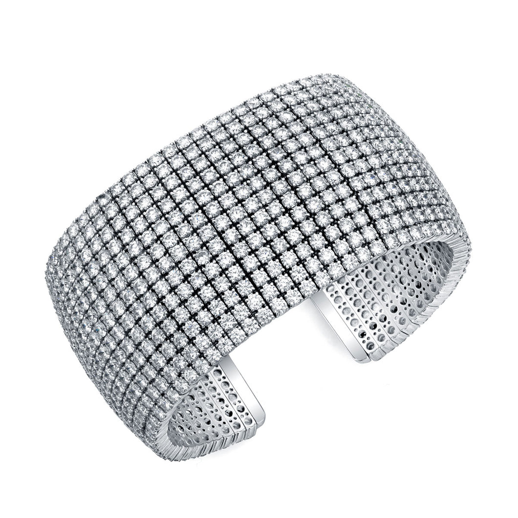 13 Row Diamond Cuff, Bracelet,  - [Wachler]