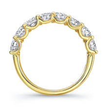 Load image into Gallery viewer, Round Diamond Yellow Gold Eternity Band, Wedding Bands,  - [Wachler]