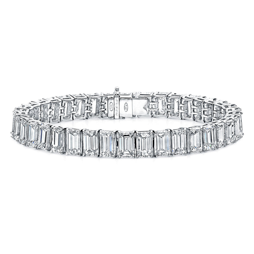 Emerald Cut Diamond Tennis Bracelet, Bracelet,  - [Wachler]