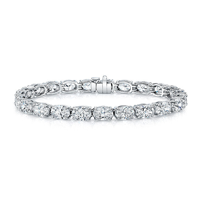 East West Oval Diamond Bracelet, Bracelet,  - [Wachler]