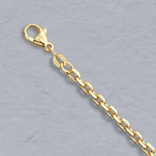 Load image into Gallery viewer, 14k Gold 3mm Diamond Cut Cable Chain