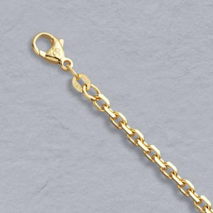 14k Gold 3mm Diamond Cut Cable Chain