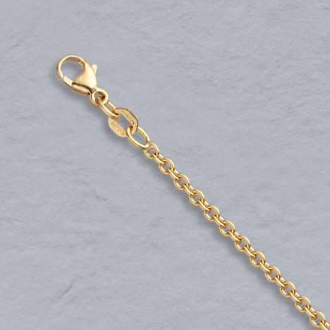 14k Gold 2mm Cable Pendant Chain