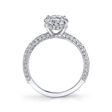Load image into Gallery viewer, Micro Pave Oval Engagement Ring, Engagement Ring,  - [Wachler]