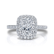 Load image into Gallery viewer, Elongated Cushion Halo Engagement Ring, Engagement Ring,  - [Wachler]