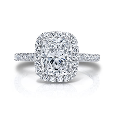 Elongated Cushion Halo Engagement Ring, Engagement Ring,  - [Wachler]