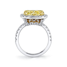 Load image into Gallery viewer, Fancy Light Yellow Cushion Halo Engagement Ring, Engagement Ring,  - [Wachler]