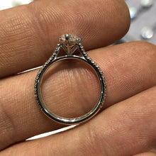 Load image into Gallery viewer, Pear Shape Pavé Cathedral Ring