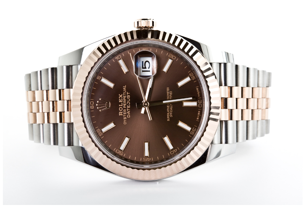 Mint Condition Pre Owned Rolex Two-Tone Datejust II Rose Gold Chocolate Index Dial Watch, Watch,  - [Wachler]
