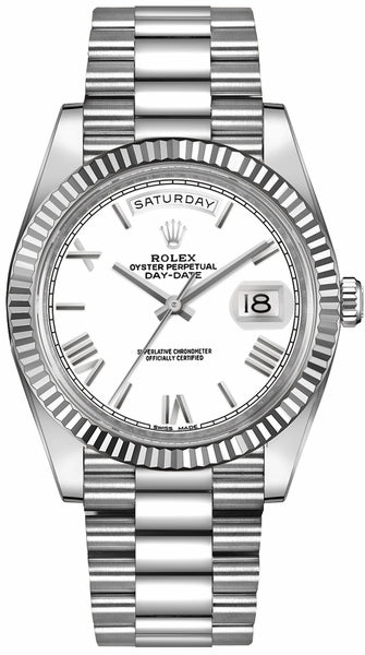 Day-Date 40 18k White Gold Men's Watch 228239