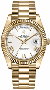 Day-Date 40 White Dial Gold Men's Watch 228238