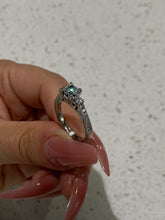 Load image into Gallery viewer, Tacori 18k White Gold Diamond & Cubic Zirconia Ring