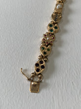 Load image into Gallery viewer, Vintage Slide Charm Bracelet 14k Yellow Gold