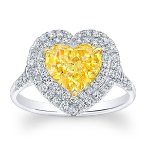 Fancy Yellow Heart Shaped Diamond Fashion Ring, Fashion Rings,  - [Wachler]